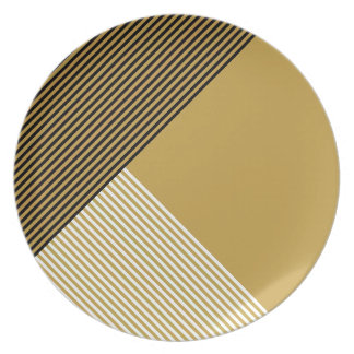 Stripe Art...Choose Your Own Dining Colors. Dinner Plates