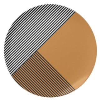 Stripe Art...Choose Your Own Dining Colors. Plate