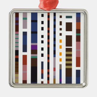 Stripe Art Metal Ornament