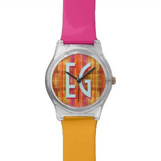 Stripe Art Pattern Wristwatch