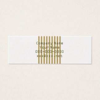 stripe&beige mini business card