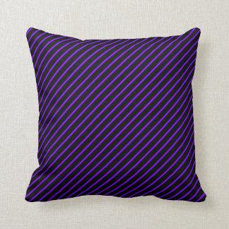 Stripe black and blue pillows