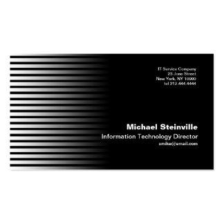 Stripe Black Business Card