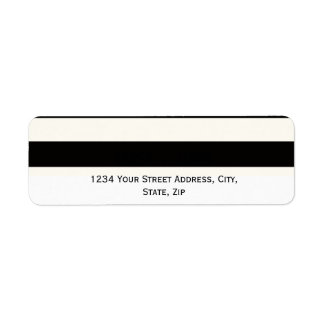 Stripe Bold black and white monogram stripe Label