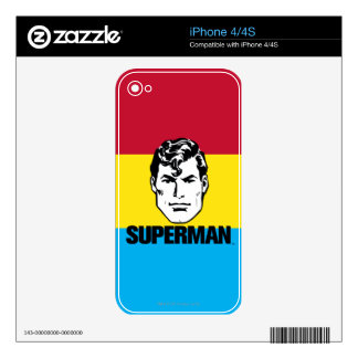 Stripe Boy - Superman iPhone 4S Decal