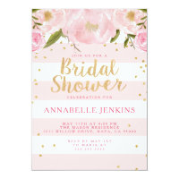 Stripe Bridal Shower Party Invitation