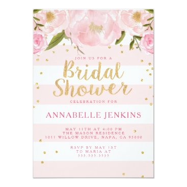 SimplyInvite Stripe Bridal Shower Party Invitation