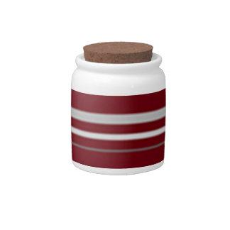 Stripe candy jar