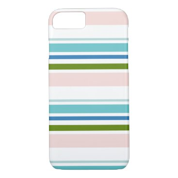 Beach Themed Stripe Cell Phone Case
