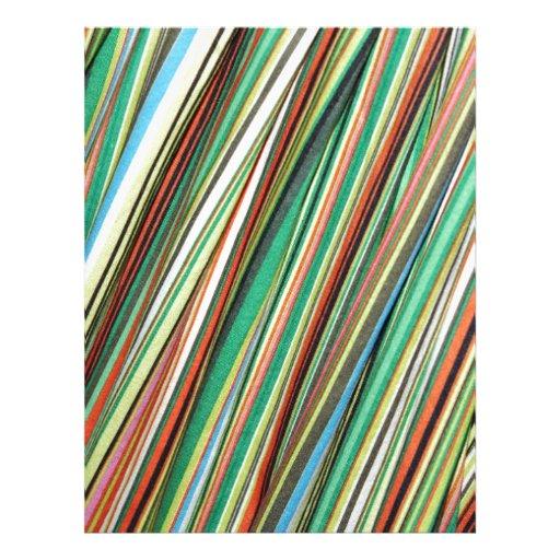 Stripe Colorful Cloth Pattern Letterhead Template