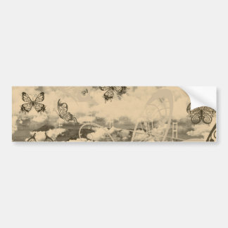 Stripe common coastal highway and butterfly bumper sticker