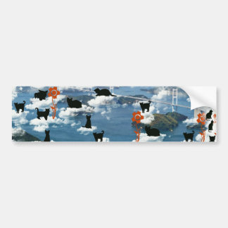Stripe common coastal highway and cat bumper stickers