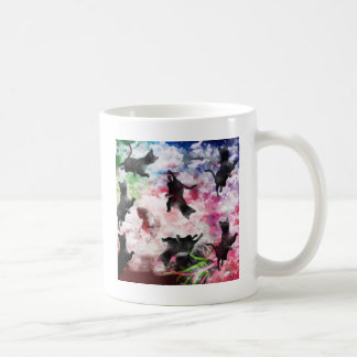 Stripe common coastal highway and cat coffee mug