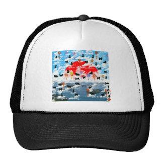 Stripe common coastal highway and cat mesh hats