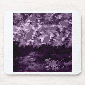 Stripe common coastal highway and cat mouse pad