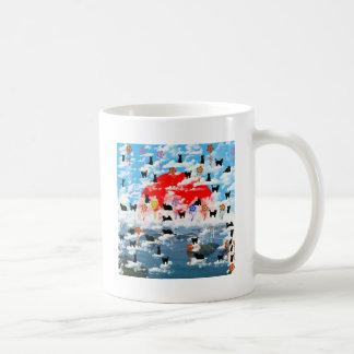 Stripe common coastal highway and cat coffee mugs