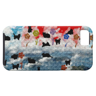 Stripe common coastal highway and cat picture wind iPhone 5 cover