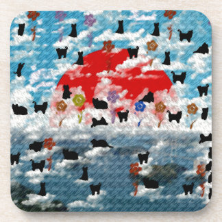Stripe common coastal highway and cat picture wind coaster