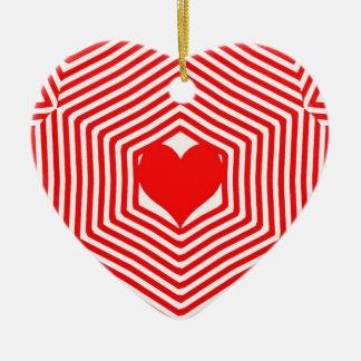 Stripe Explosion Heart Ornament