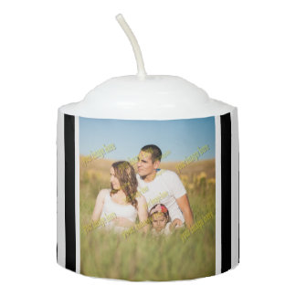 Stripe Family Image Create Your Own Votive Candle