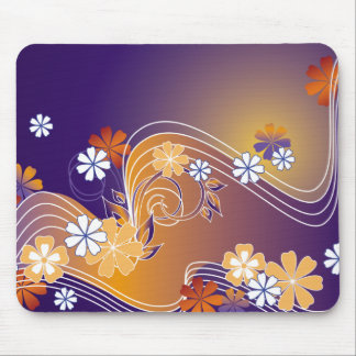 stripe floral design mouse pad