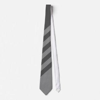Stripe Grey Black Tie