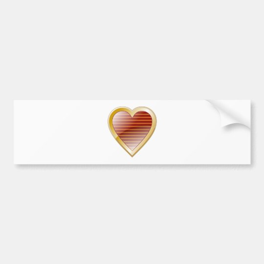 Stripe Heart Bumper Sticker