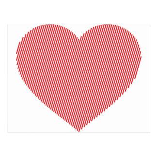 Stripe Heart Postcard