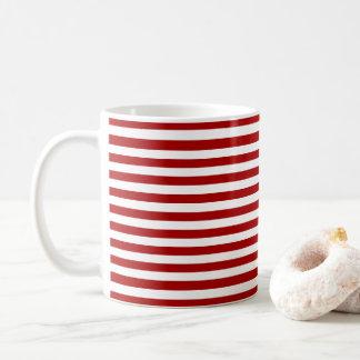 Stripe Holiday Coffee Mug Eat Drink & Be Merry