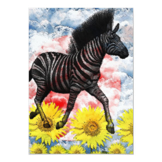 Stripe horse picture wind on cloud card
