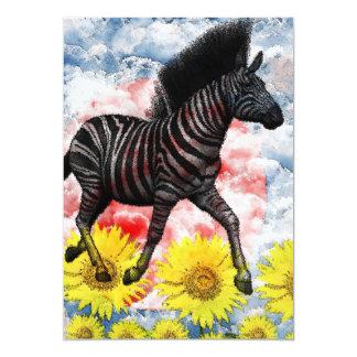 Stripe horse picture wind on cloud 5x7 paper invitation card
