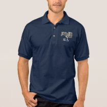 Stripe horse polo shirt