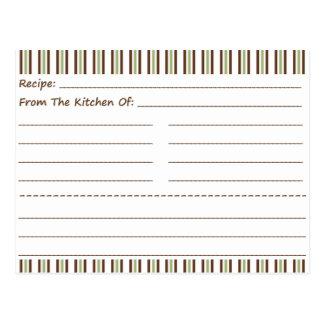 Stripe It Up Blank Recipe Cards