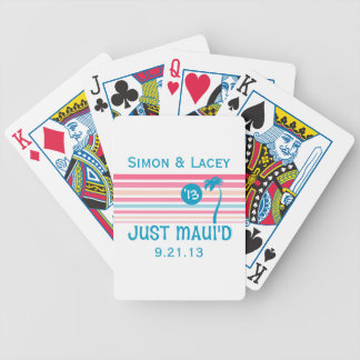 Stripe Just Maui'd Bicycle Playing Cards