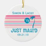 Stripe Just Maui'd Christmas Ornament