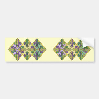 Stripe Mardi Gras Fleur de lis Bumper Sticker