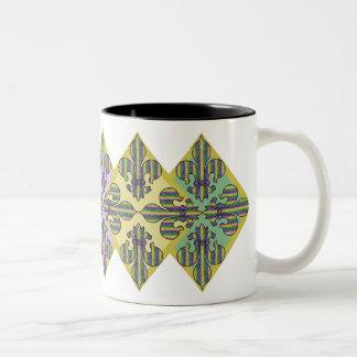 Stripe Mardi Gras Fleur de lis Mugs