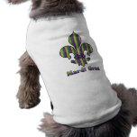 Stripe Mardi Gras Fleur de lis Pet Clothing