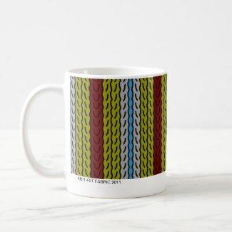Stripe - olive brick - mug mug