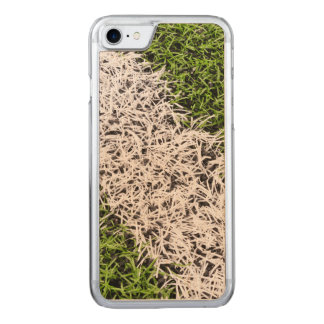 Stripe on grass carved iPhone 7 case