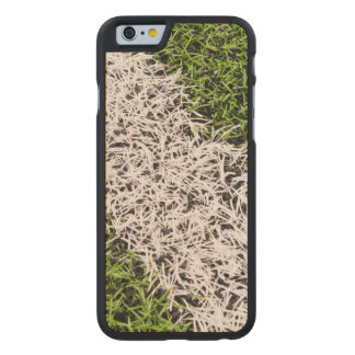Stripe on grass carved maple iPhone 6 case