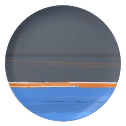 Stripe Orange Plate