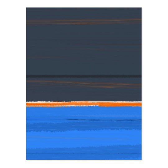 Stripe Orange Postcard