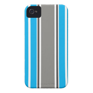 Stripe Pattern - Blue and Grey iPhone 4 4S Case iPhone 4 Case