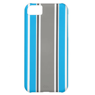 Stripe Pattern - Blue and Grey iPhone 5 Case iPhone 5C Covers