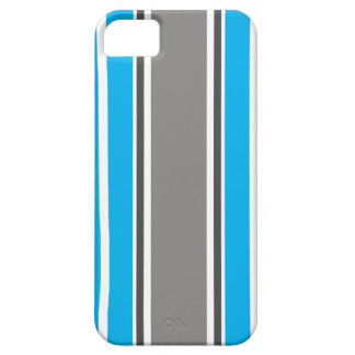 Stripe Pattern - Blue and Grey iPhone 5 Case iPhone 5 Covers