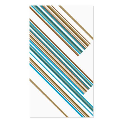 Stripe Pattern Bookmark Business Card