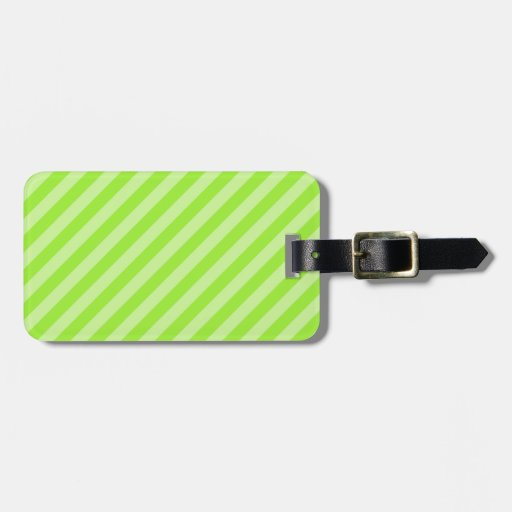 Stripe Pattern in Green. Bag Tag
