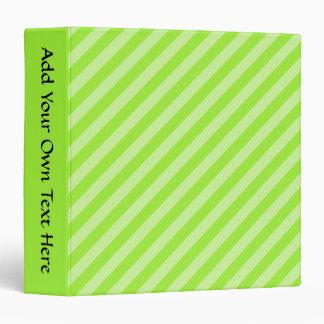 Stripe Pattern in Green. Binder