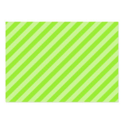 Stripe Pattern in Green. Business Card